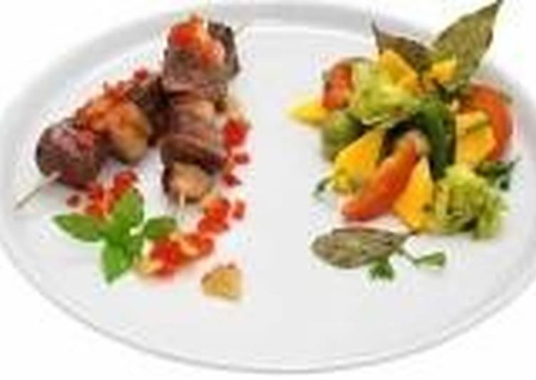 Шашлычок из телятины с имбирным соусом