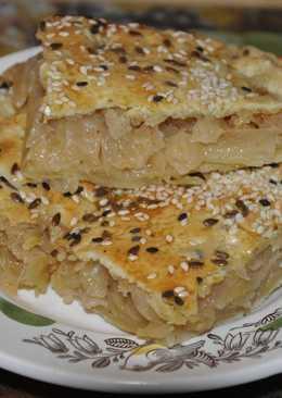 Быстрый пирог с капустой (песочное тесто)