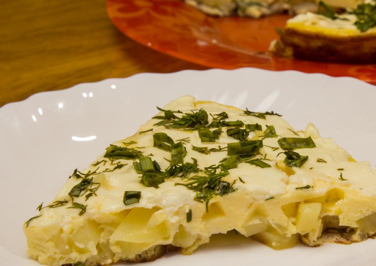 Вкуснейший омлет с картофелем и сливочным сыром! Супер быстрое, сытное и Оочень вкусное блюдо