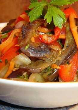 Корейкий салат из баклажанов