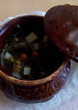Суп из морской капусты в горшочке