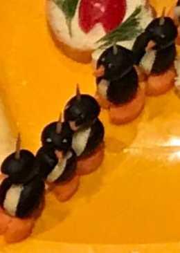 """Канапе """"Пингвины"""""""