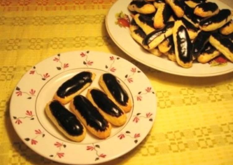Заварное печенье с сыром в шоколаде