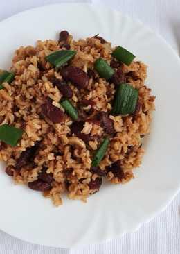 Рис с фасолью и чили