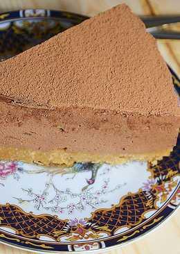 Шоколадный чизкейк со сгущенкой без выпечки