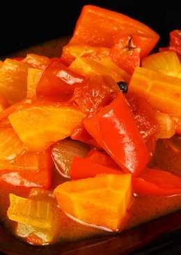 Овощное ассорти на зиму. Пикантный салат. Домашняя консервация и заготовки
