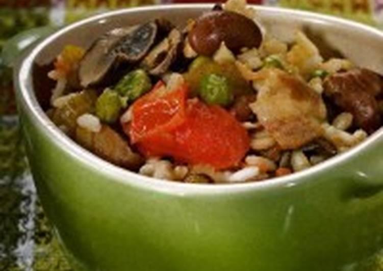 Рагу с рисом, фрикадельками и овощами «Ленивка»