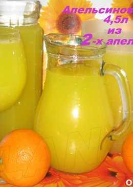 Апельсиновый сок из 2-х апельсинов - 4.5 л