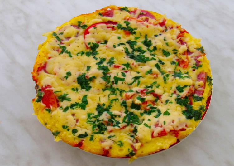 Ну, очень быстрая пицца на сковороде за 10 минут