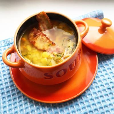 Гороховый суп с беконом