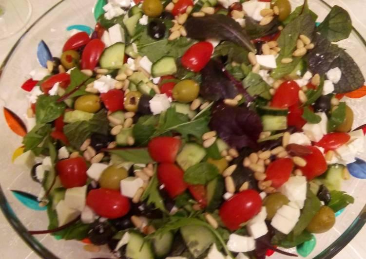 Салат с маслинами и сыром фета рецепт 185
