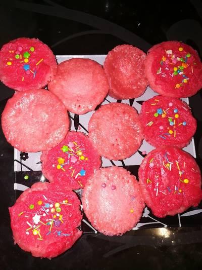 Разноцветные кексы в микроволновке.🍮