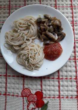 Спагетти с жареными грибами#чемпионатмира#россия