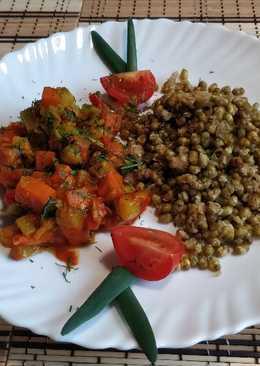 Маш с овощным рагу. Здоровое питание