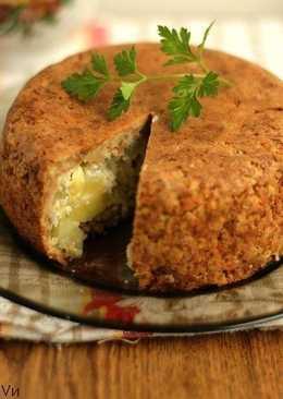 Пудинг из цельнозернового хлеба с кабачками