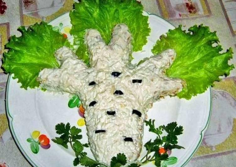 Салат с курицей и сыром «Березка»