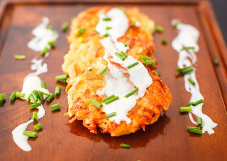 Картофельные драники с творогом по-украински