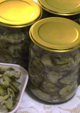 Салат из огурцов в зиму