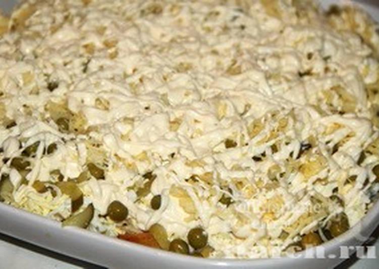 Сытный, вкусный, повседневный салат-гарнир