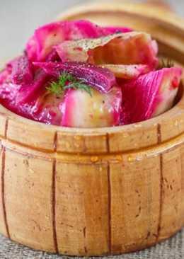 Маринованная свекла с капустой