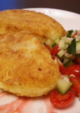 Картофельные котлеты с красной рыбой