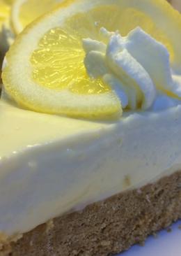 Лимонный чизкейк - без выпечки и яиц с очень нежной и легкой начинкой