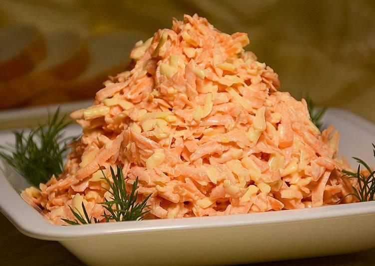 Быстрый салат к ужину из моркови и сыра (за 15 минут)!