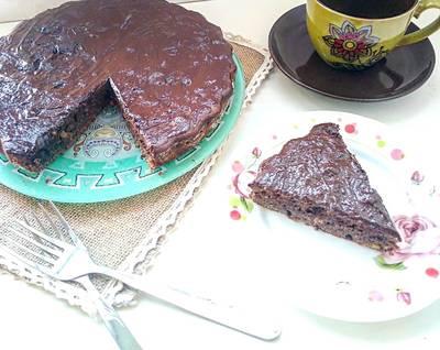 Шоколадный пирог с орехами #спас