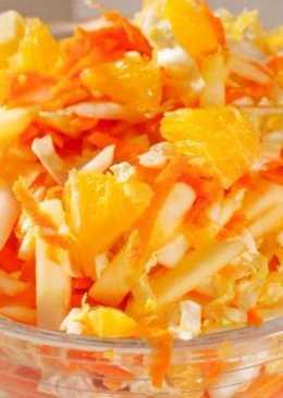 Салат с апельсином и пекинской капустой