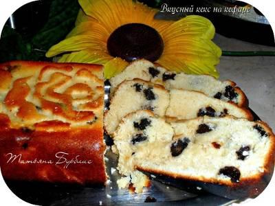 Самый простой и вкусный кекс на кефире