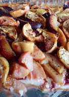 Творожный пирог с яблоками и сливами #Летниедесерты