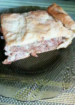 Пирог с мясо-картофельным фаршем