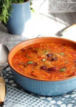 Постный томатно- фасолевый суп с киноа