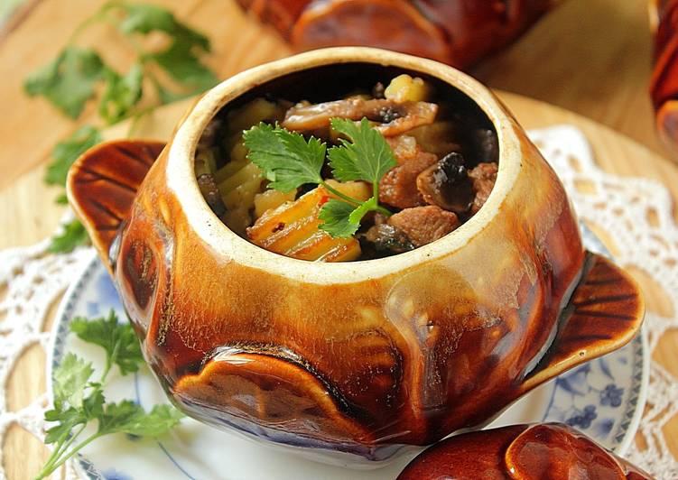 Рецепт приготовления в горшочках мясо с картошкой