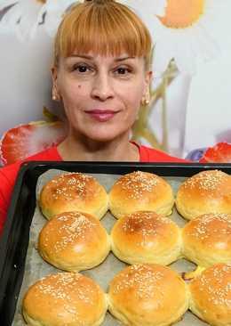 Сдобные булочки для бургеров