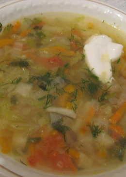 """""""Легкий"""" суп из китайской капусты"""