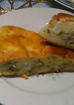 Заливной пирог с картофельной начинкой
