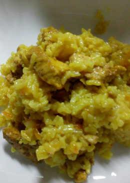 Плов из курицы с бурым рисом в мультиварке