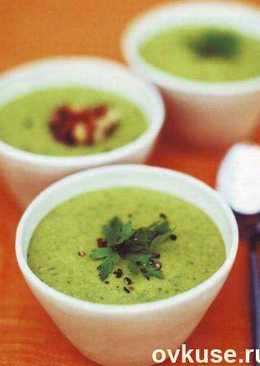 Грибной суп-пюре со шпинатом в мультиварке