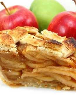 Яблочный пирог на кефире и растительном масле