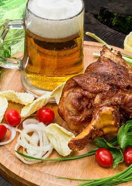 Свиная рулька на мангале к пиву