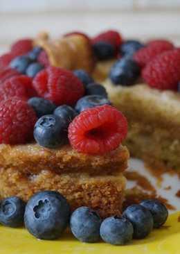 Детский бисквитный торт без яиц и молока