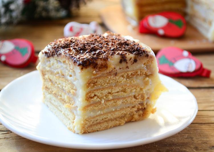 рецепт торта из сухого печенья