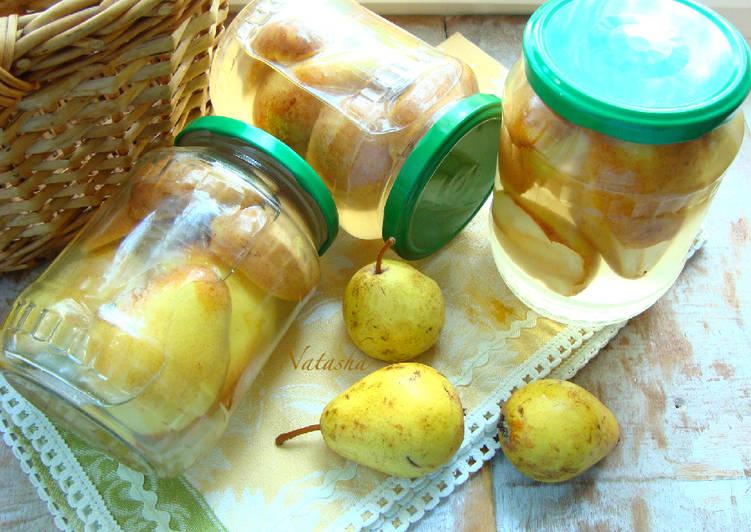 Фрукты в сиропе с лимоном