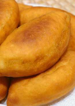 Пирожки с мясом и рисом, жареные во фритюре