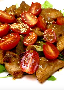 Теплый салат с индейкой. Идеальный ужин. Правильное питание