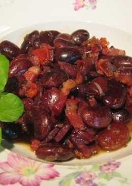 Фасоль по-румынски с салом