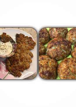 Котлетки с овощами и оладьи / драники из овощного и мясного фарша