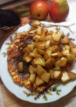 Пп завтрак Овсяно-блин с карамелизованной грушей