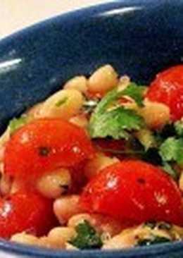Постный салат с ароматным маслом